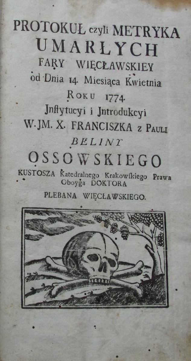 Księgi metrykalne parafii z Więcławic